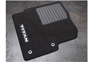 Single Cab Carpeted Floor Mats (2-piece / Black). Single Cab image for your Nissan
